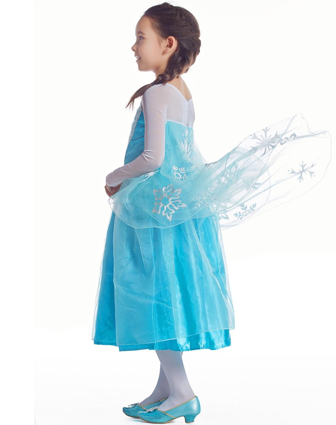 冰雪奇缘艾莎公主连衣裙