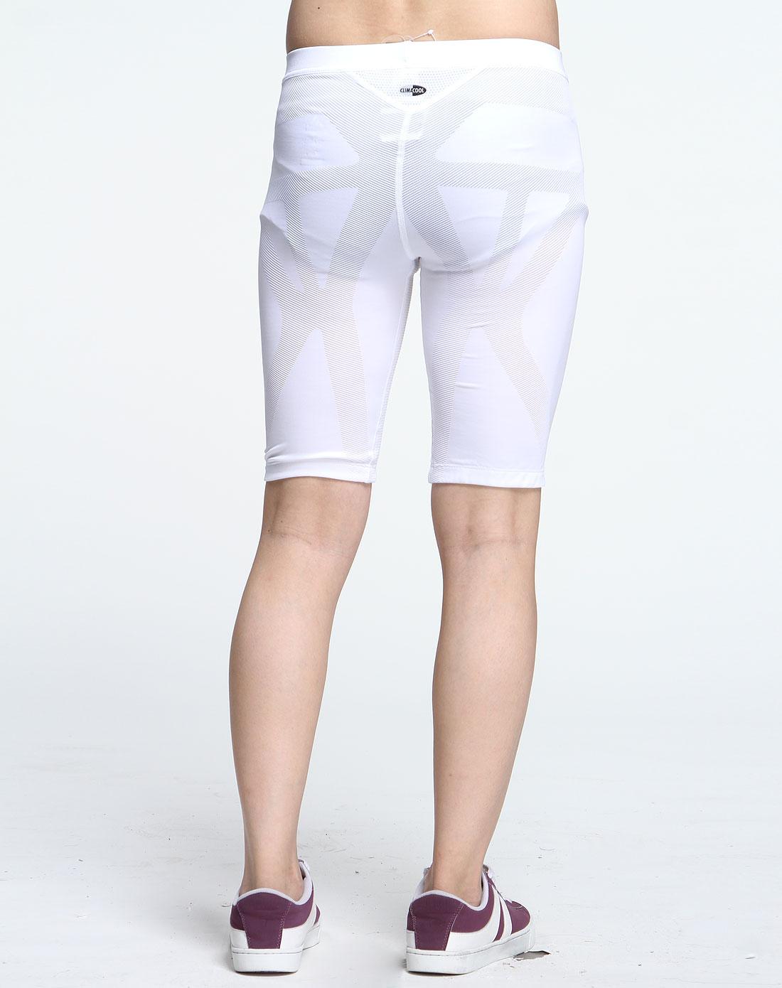 白色运动紧身短裤
