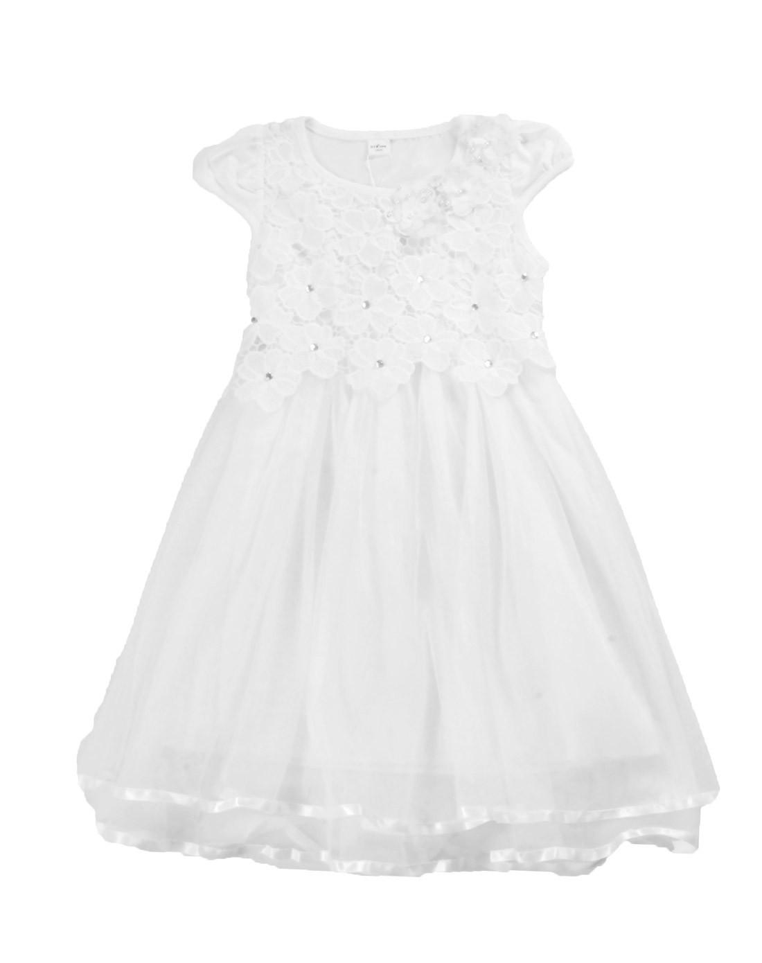 女童白色公主裙