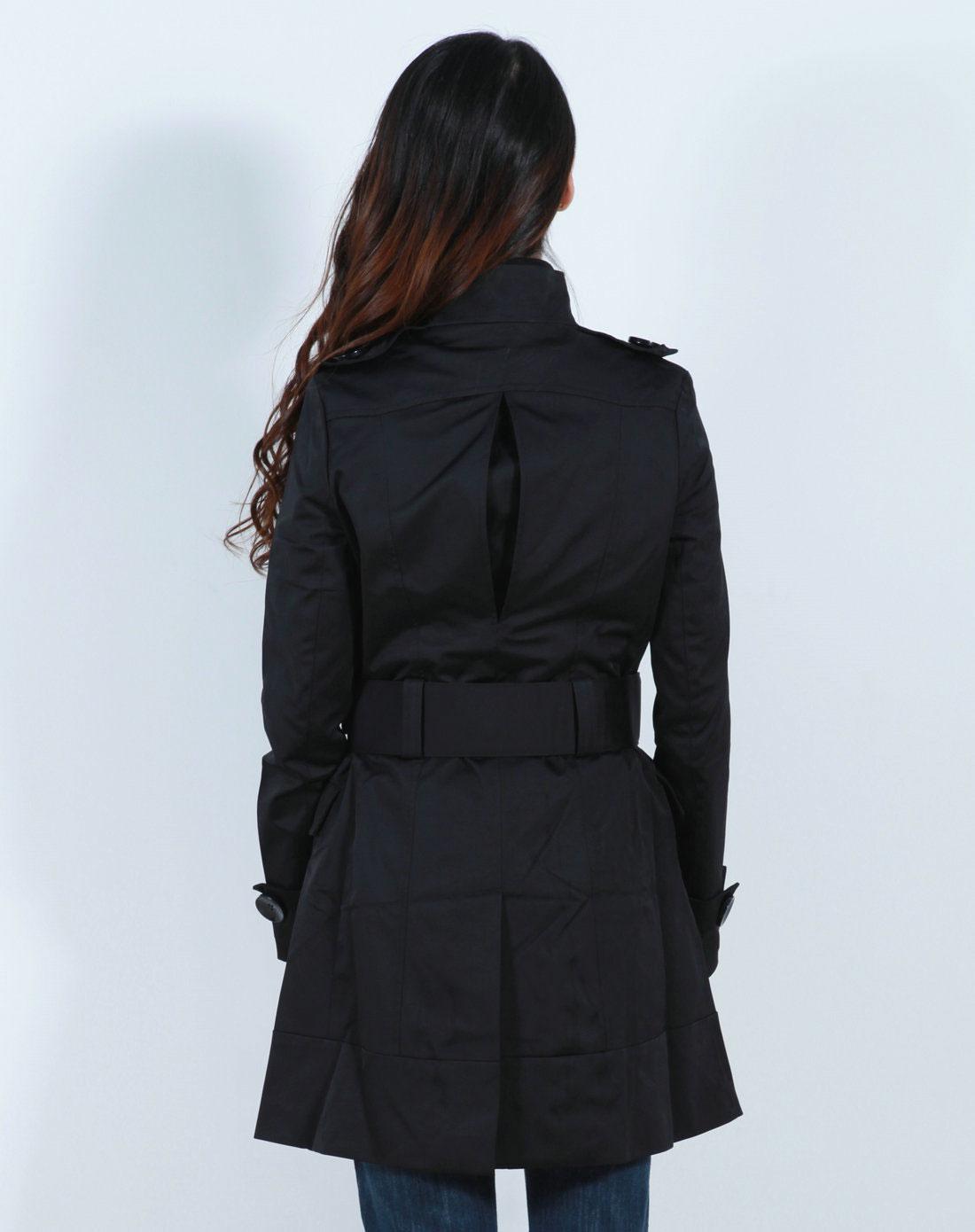 风衣女装_女装黑色风衣