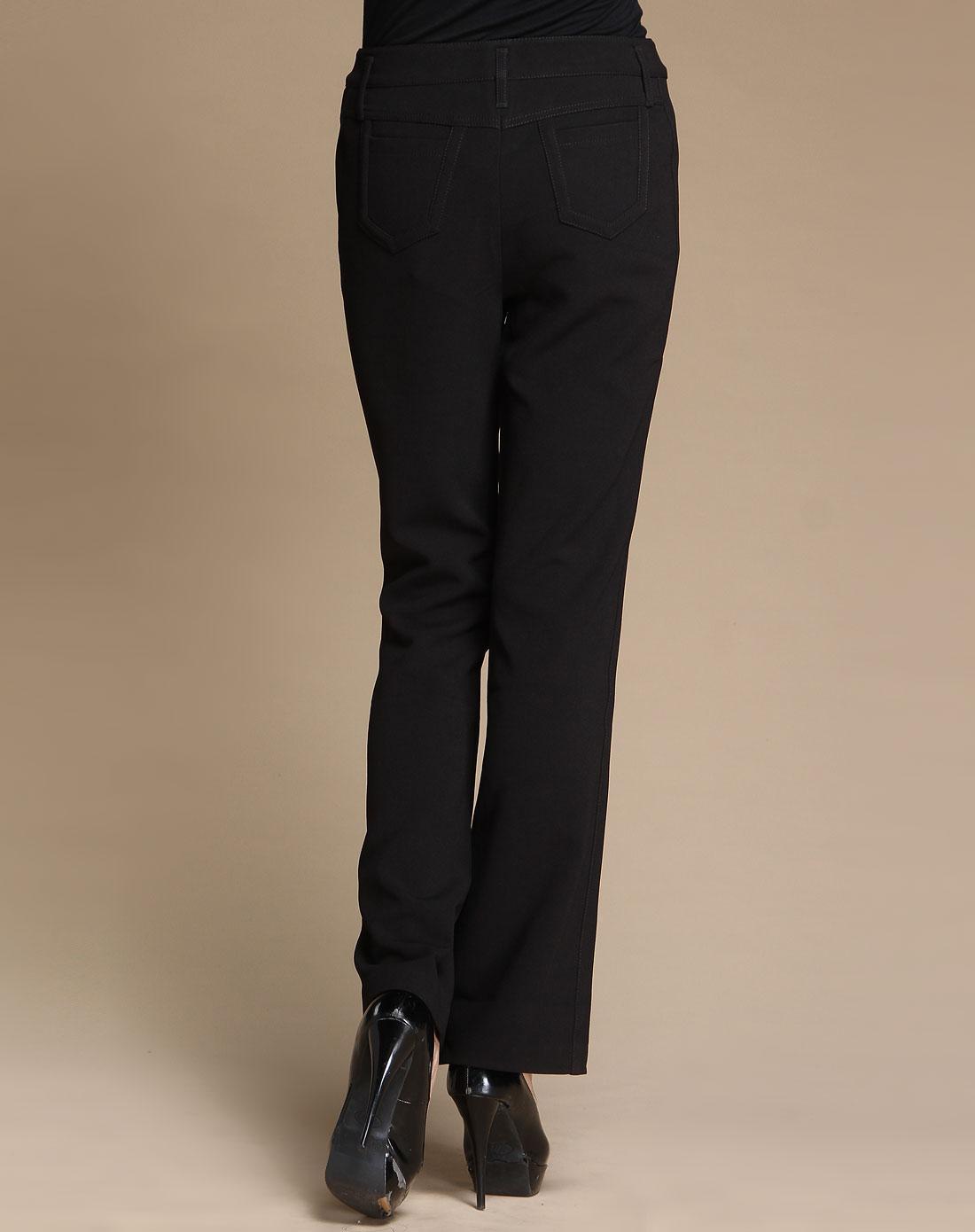 蕾朵liedow黑色休闲长裤8010673211