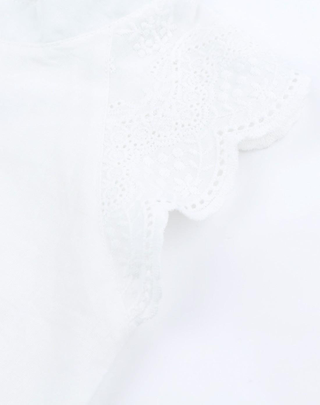 巧可巧克女童白色简约花边上衣cbxg215677013_唯品会