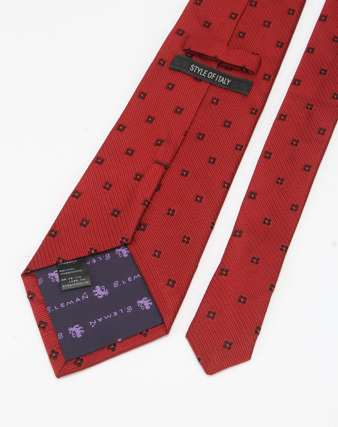 红色时尚印花领带