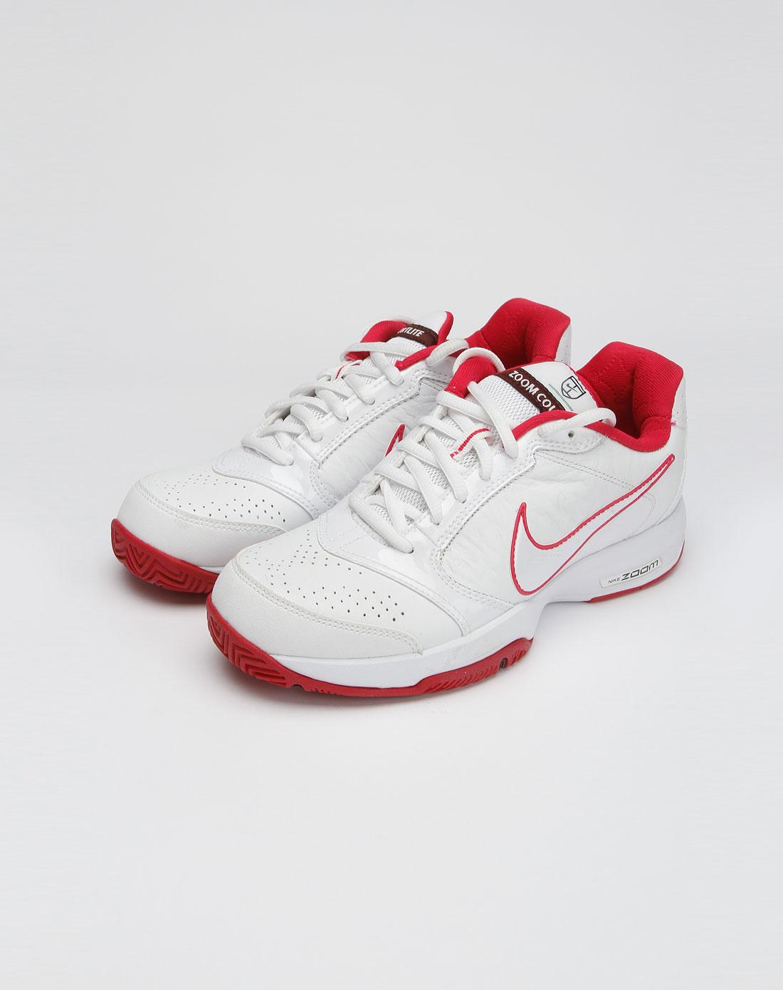 耐克nike女士专场-女款白色zoom系列绑带运动网球鞋