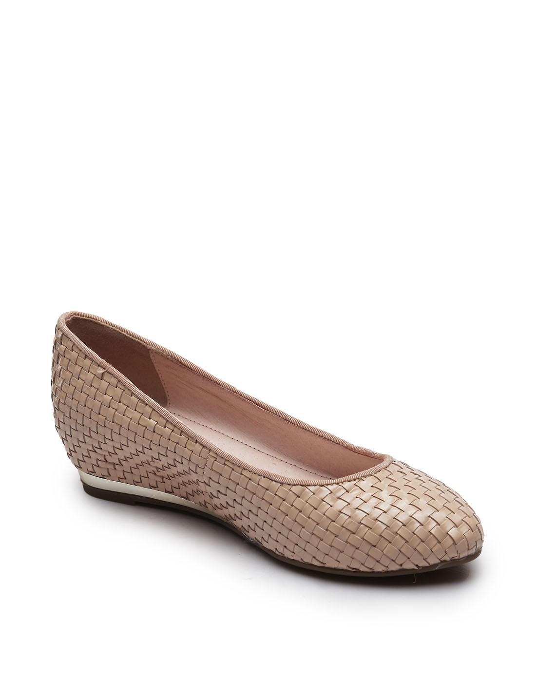 森林公主米粉色猪皮编织内增高休闲单鞋ff1c41316a1