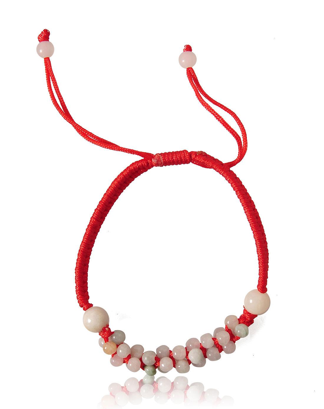 子红绳编织手链045286