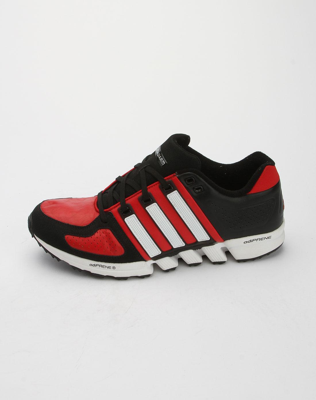 阿迪达斯adidas红拼黑白色跑步运动鞋v20796