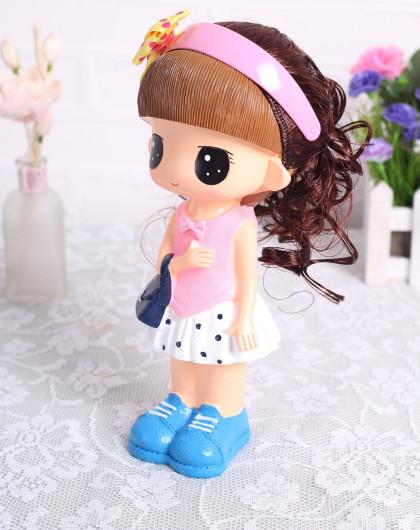 jm家装高品创意长发娃娃装饰摆件(c001)