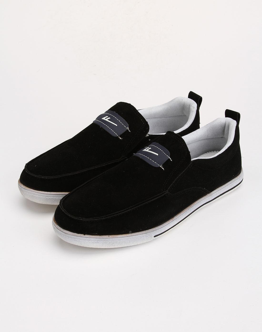 男款黑色时尚休闲运动鞋