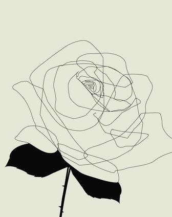 玫瑰花装饰无框画3联