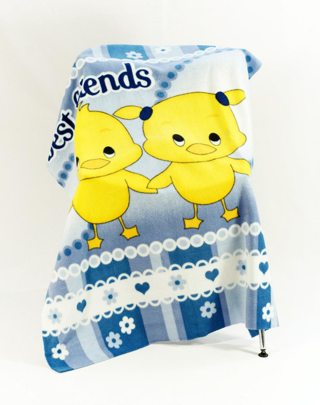 可爱小鸭卡通儿童双面绒毯