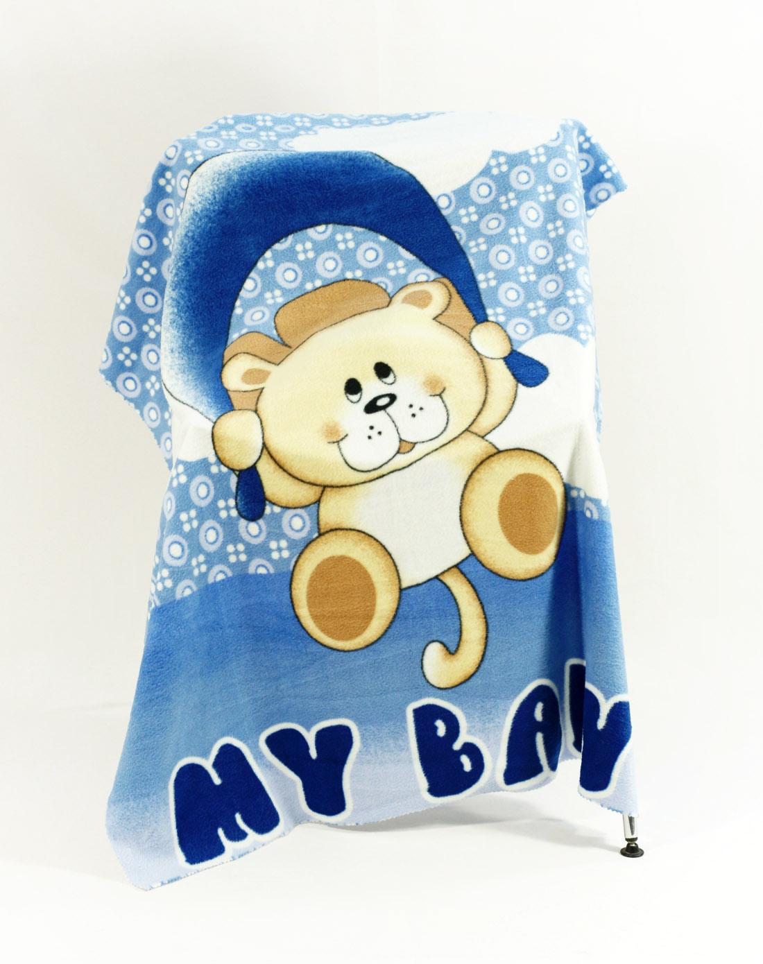 愿望熊卡通儿童双面绒毯