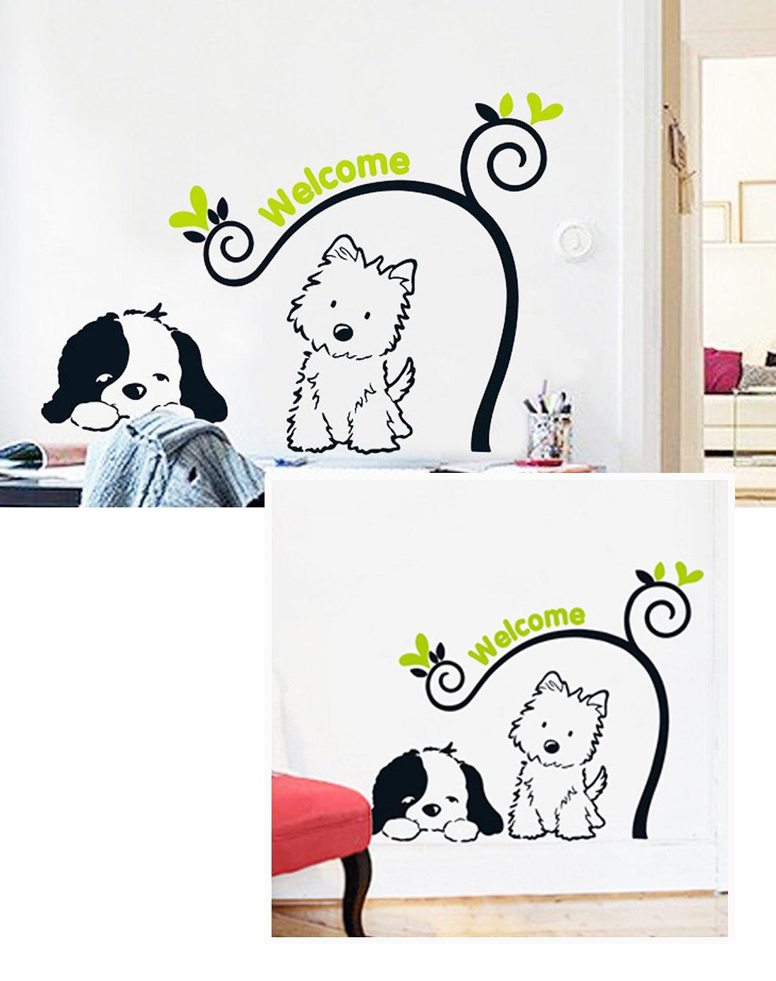 3代可移彩色墙贴卡通狗