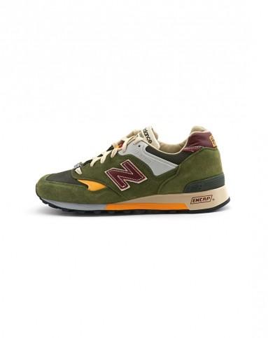 577高端英产系列 男子墨绿色复古鞋