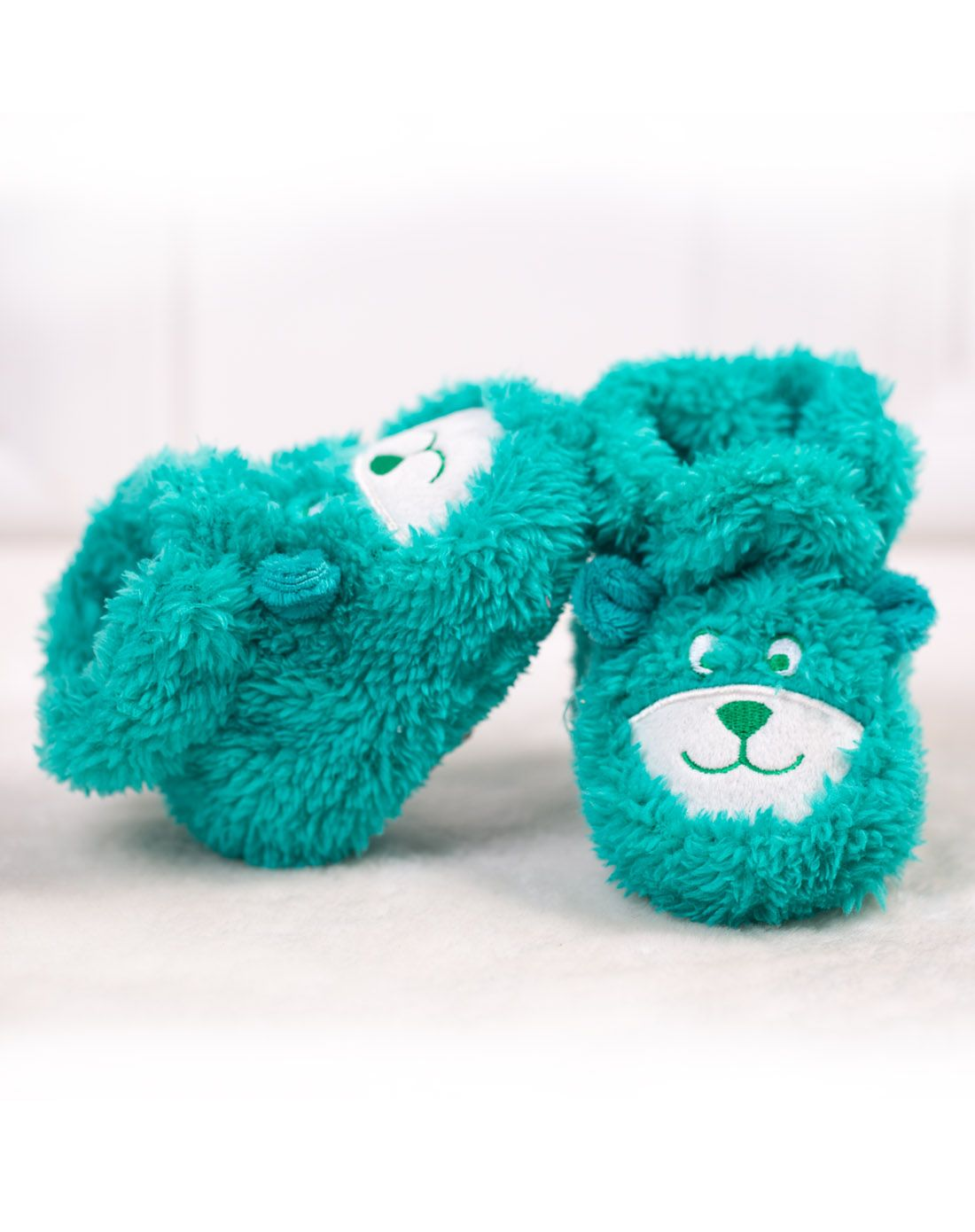 中性绿色可爱卡通婴儿鞋