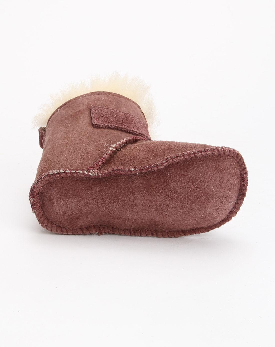 深紫色可爱婴儿鞋