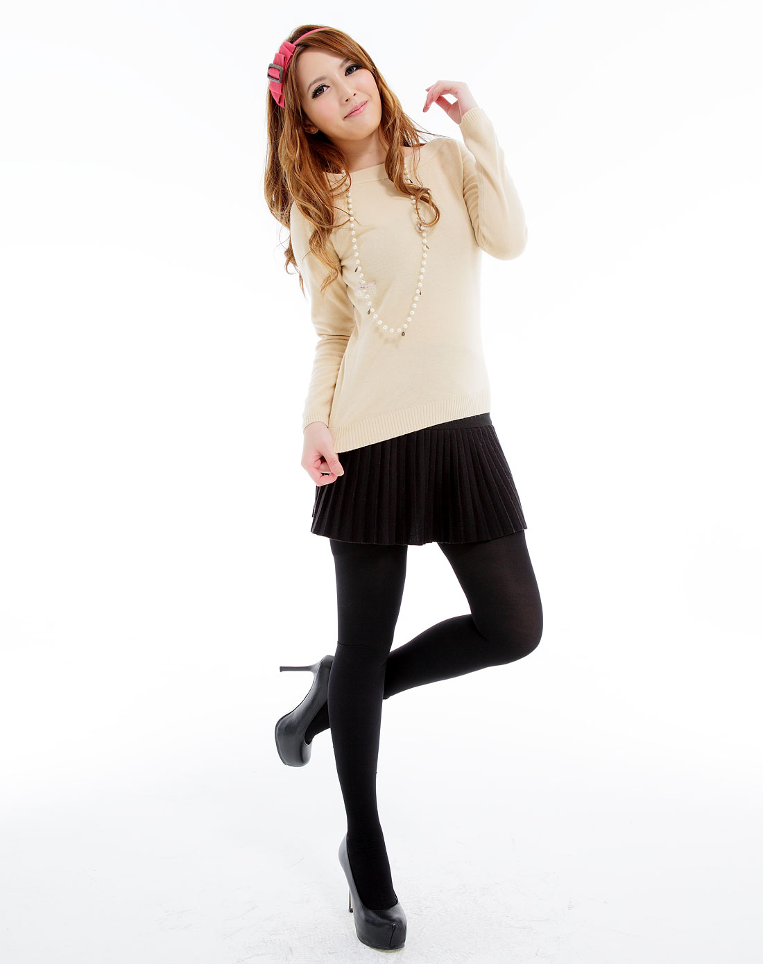 裤袜穴_女款黑色80d华美柔感加裆连脚裤袜
