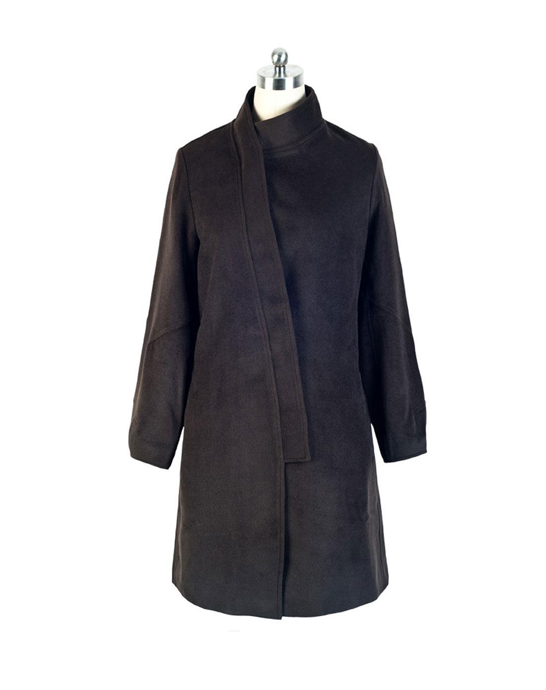 女款灰色呢大衣
