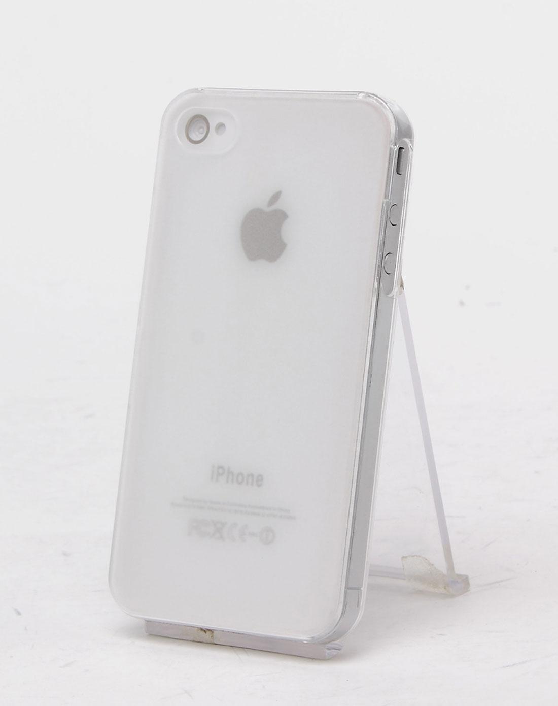 iphone4/4s 白色磨砂透明手机壳