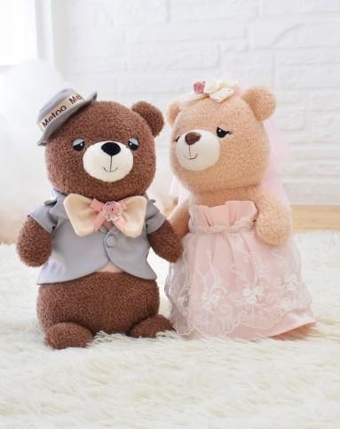 呆萌婚礼熊 玫瑰婚礼