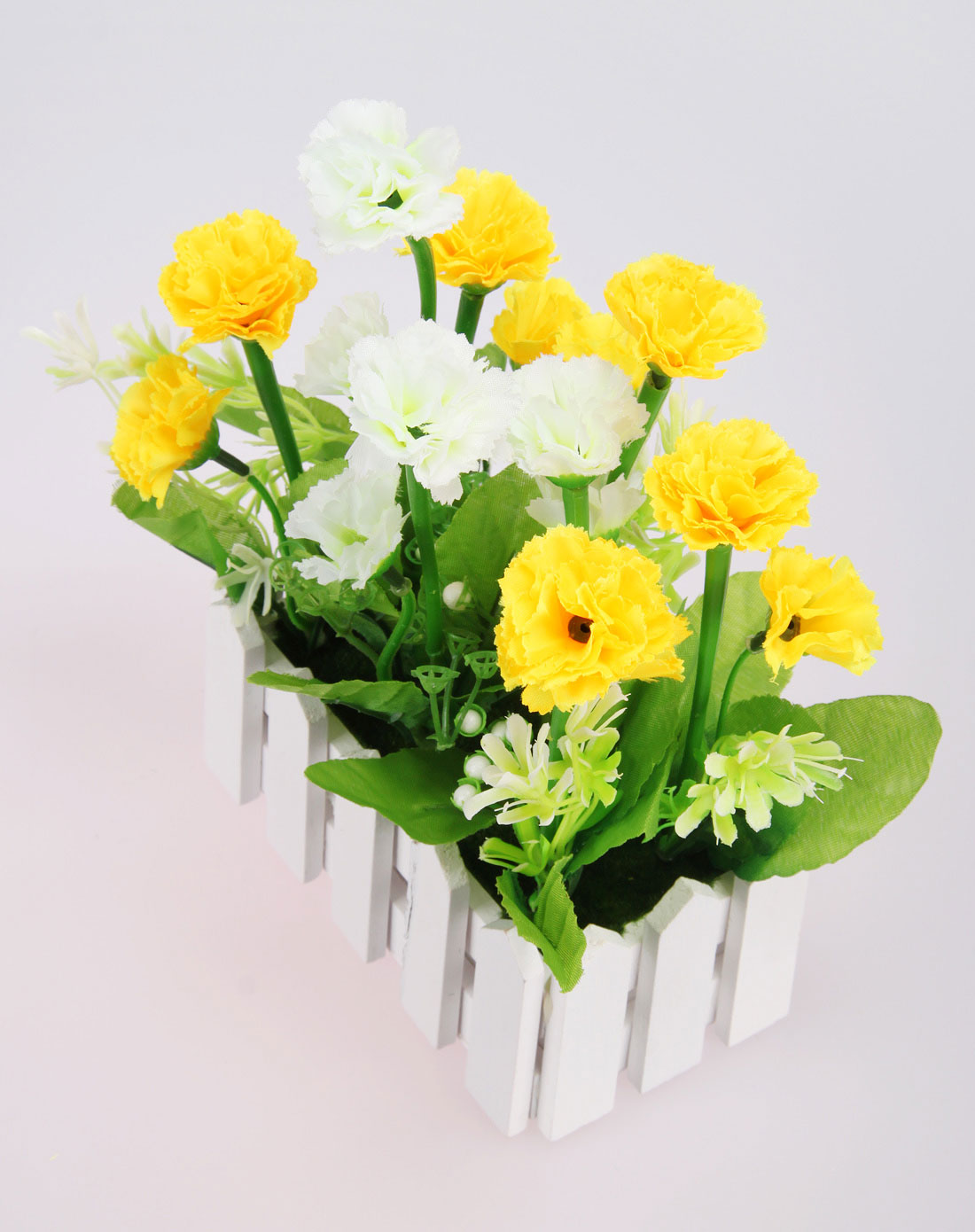 h&3家居用品专场黄绿色欧式长款栅栏仿真装饰花温馨