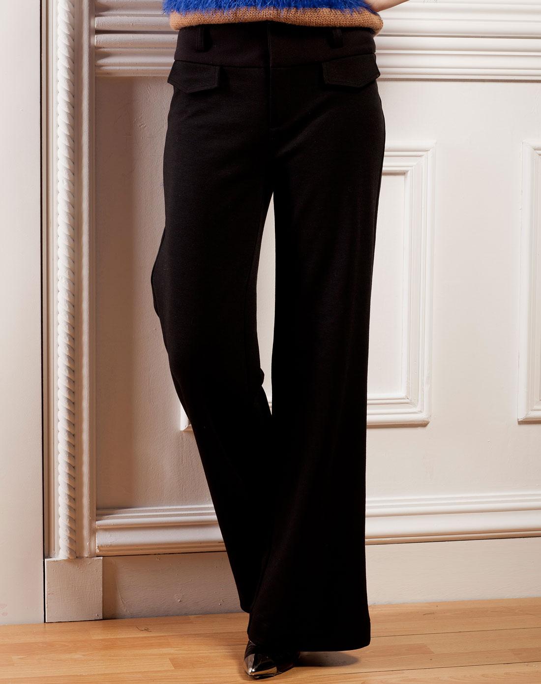 阔腿裤-黑色u12c256-70
