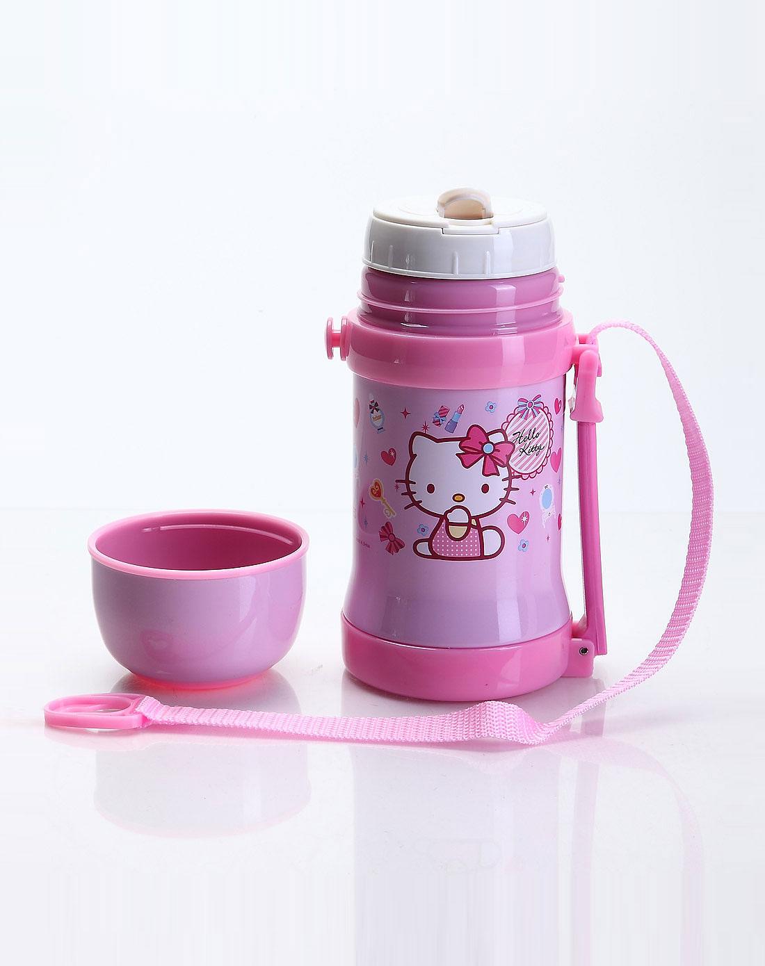 hello kitty 女童粉色儿童隐形背带水壶