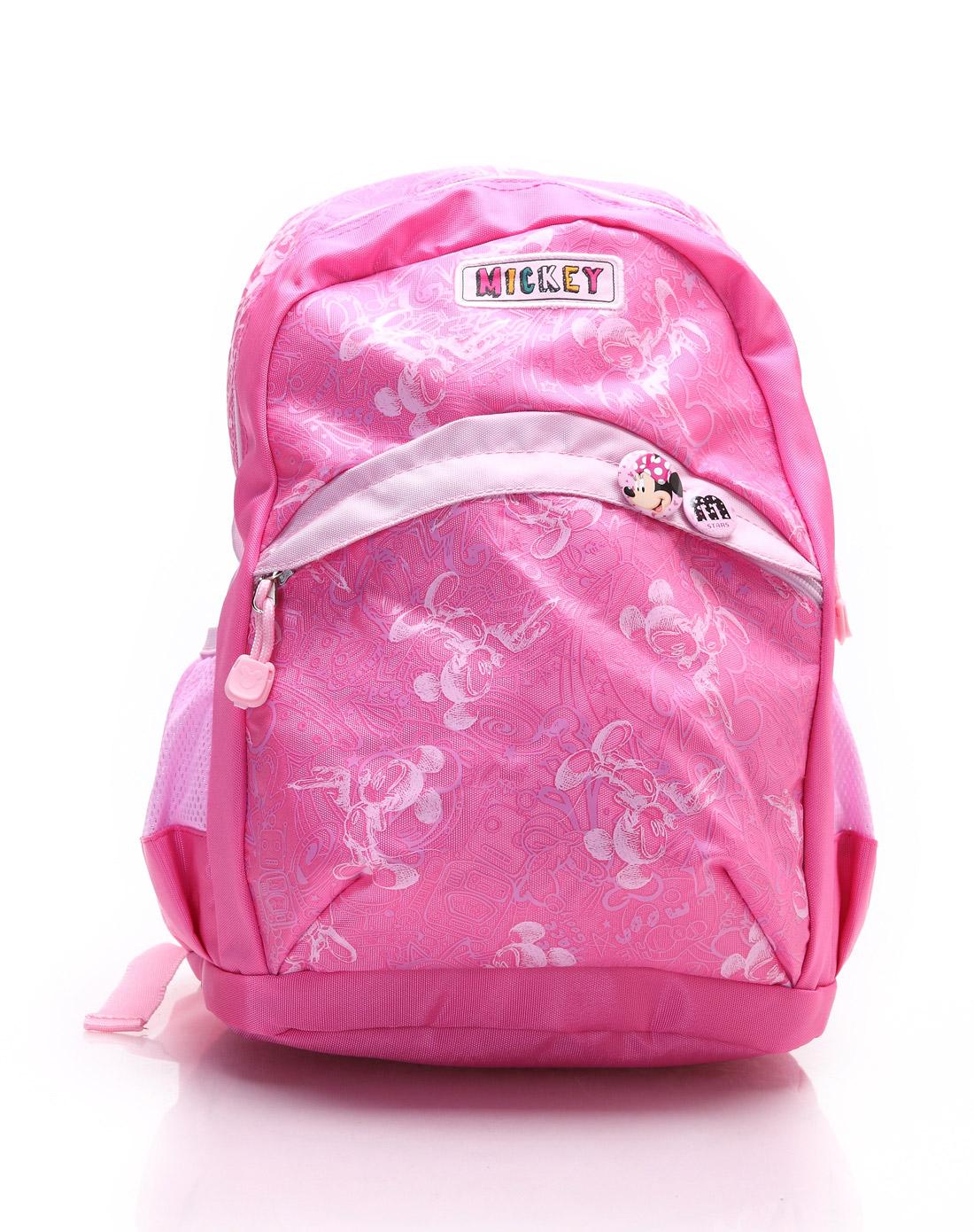 迪士尼disney文具专场女童粉红休闲背包gm0470012