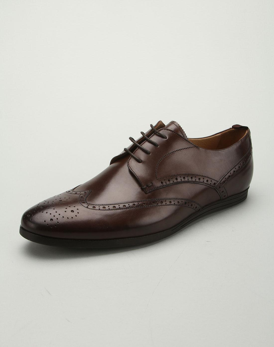 tens男士名鞋专场男款英伦风格头层牛皮皮鞋咖啡色