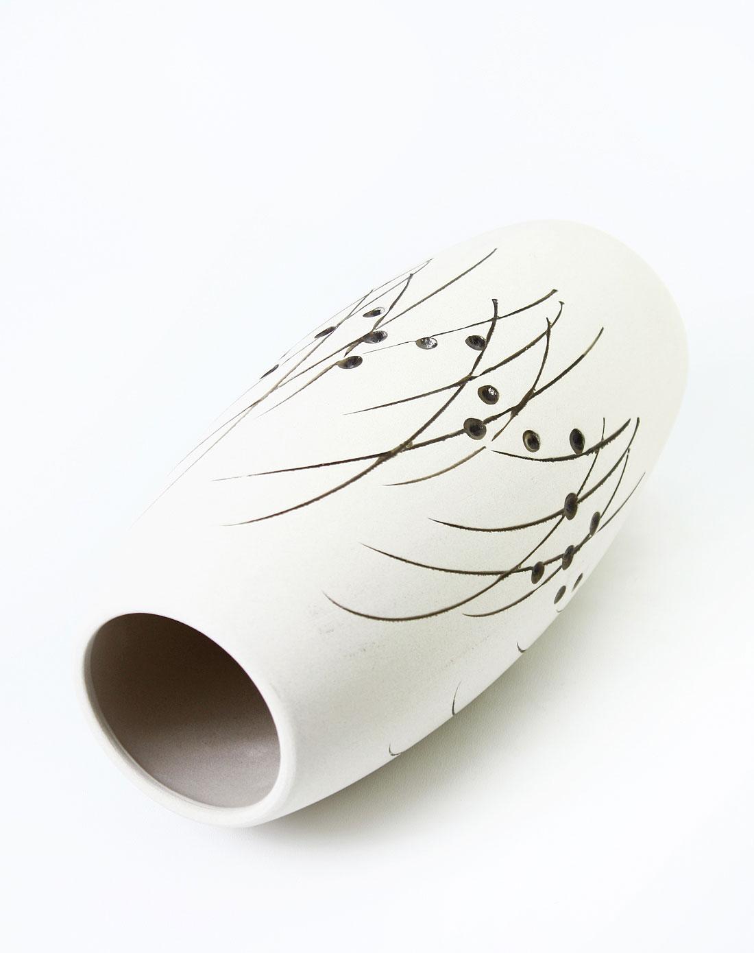 陶艺手绘花瓶-椭圆形