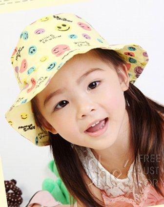 纯棉笑脸儿童帽子bh80103b1