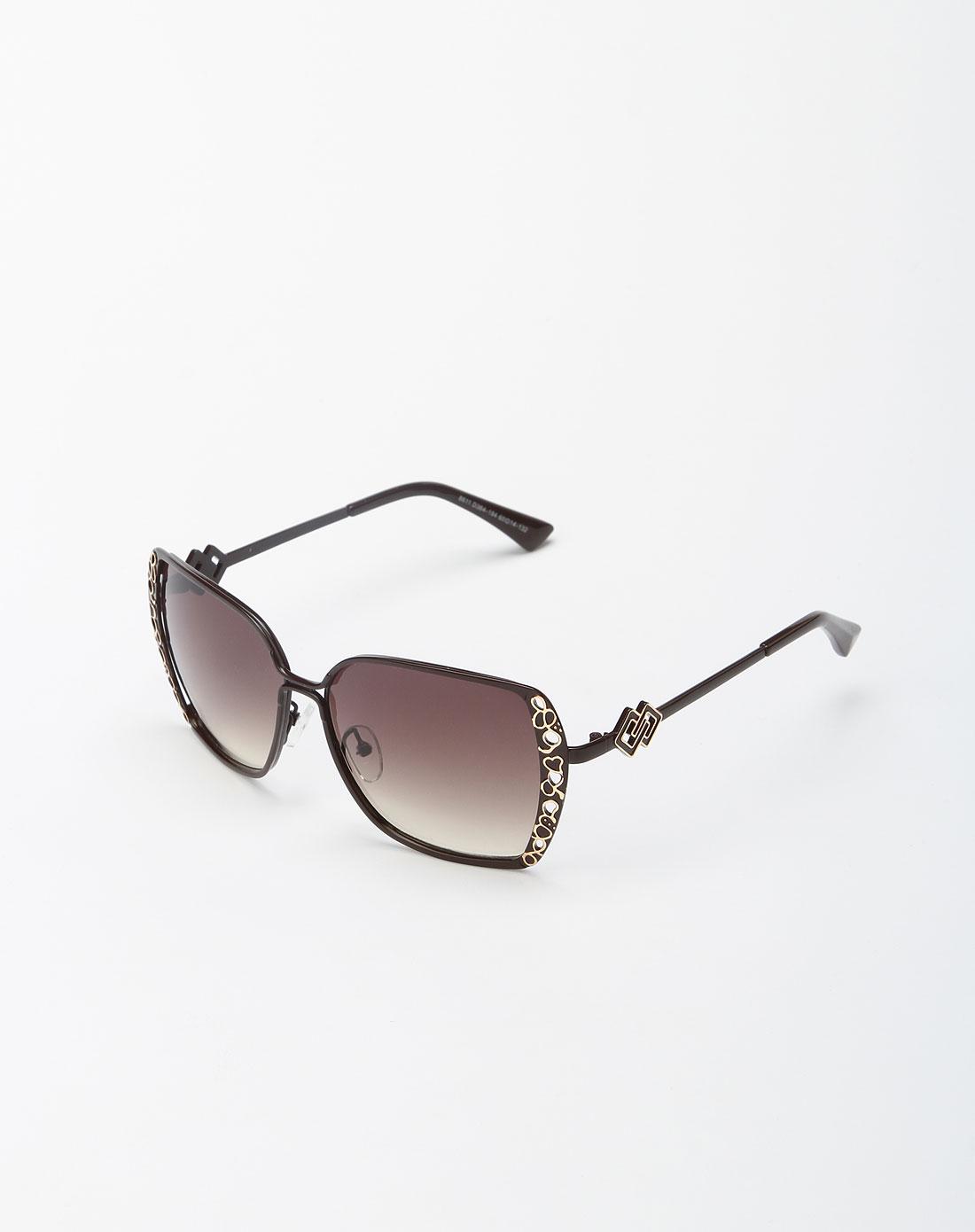 bailewei配件专场棕色可爱心形太阳眼镜7blw2012903