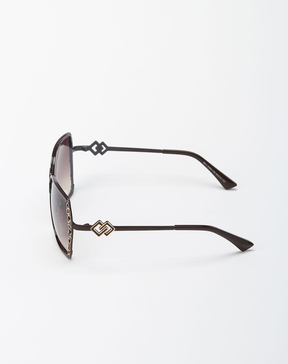 bailewei配件专场棕色可爱心形太阳眼镜7blw20129031