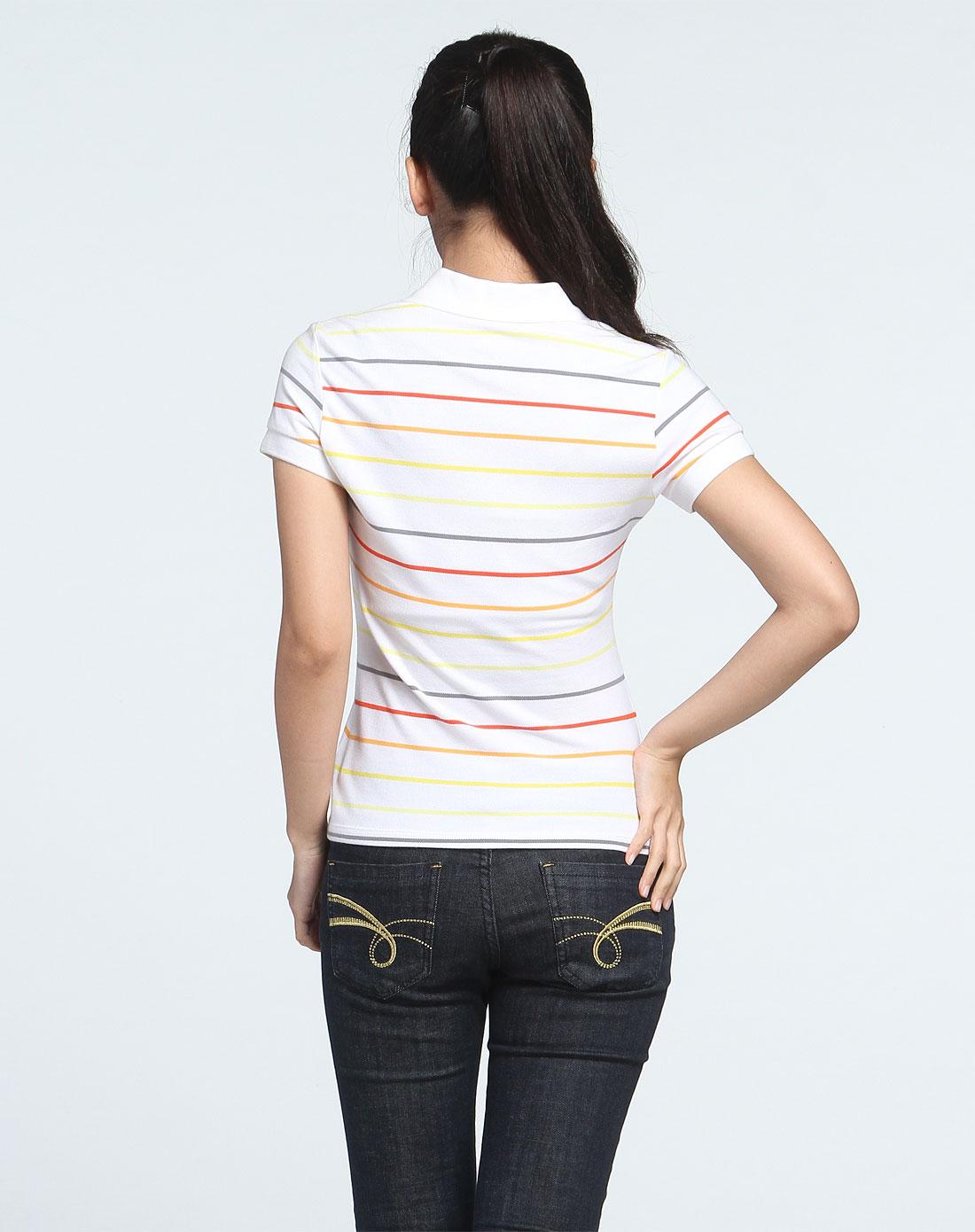 安踏anta 女款 白/彩色短袖polo衫