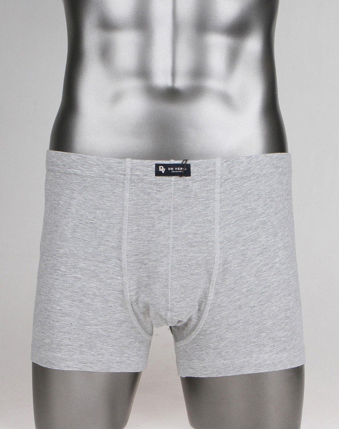 浅灰色简约针织内裤
