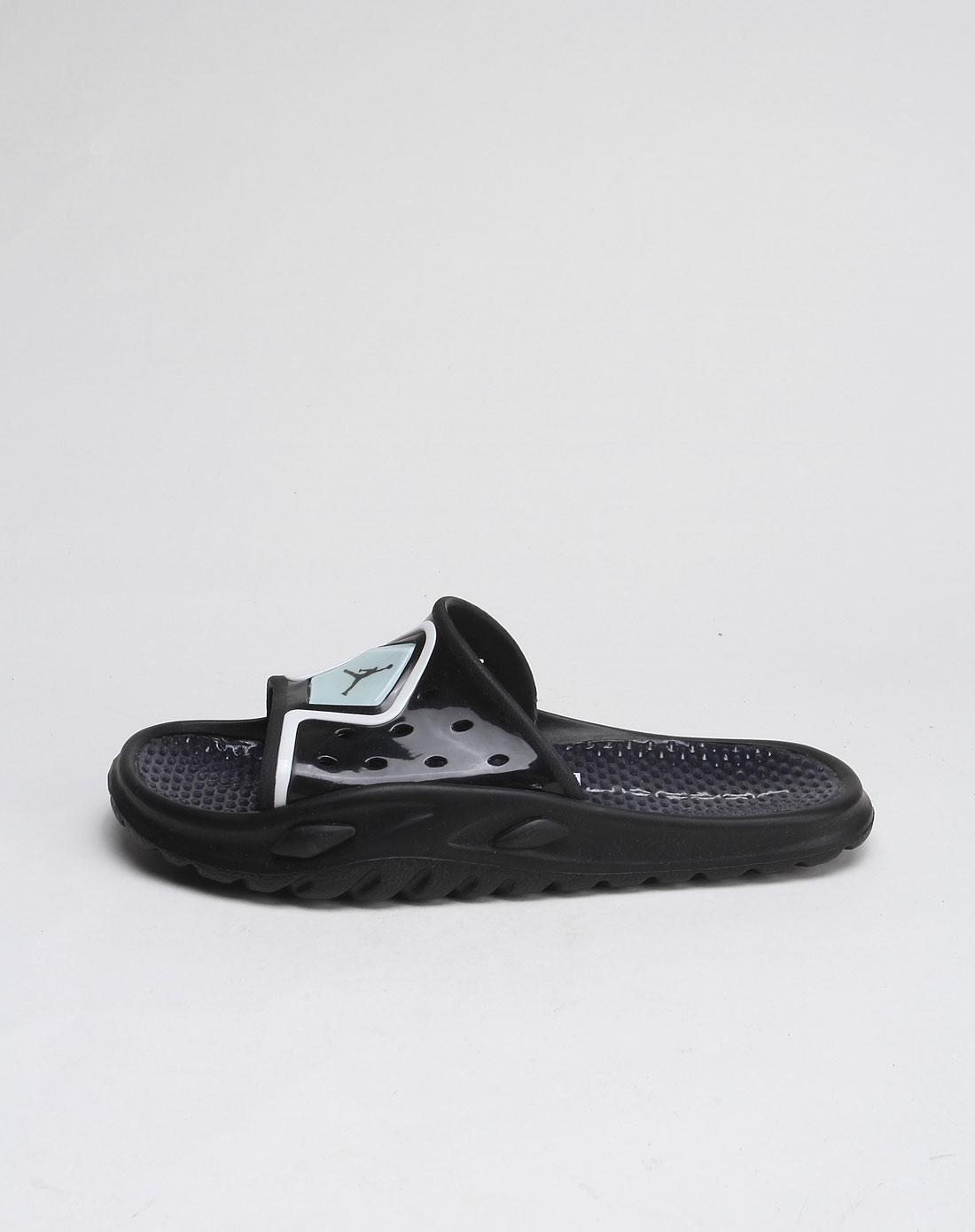 耐克nike-jordan图案黑白色凉拖鞋428765-003