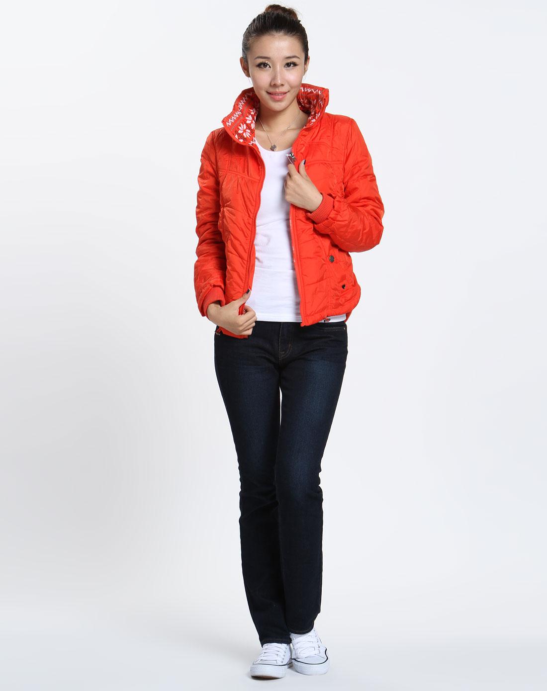 森马 女款橙色时尚长袖外套图片