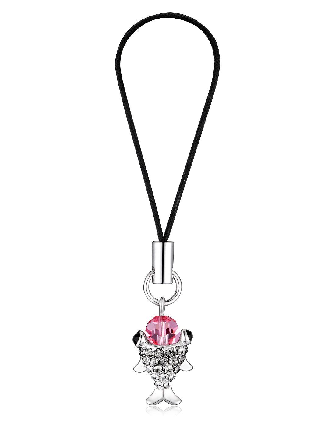 粉红色小鱼钥匙扣