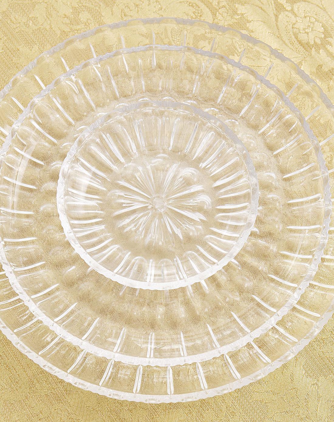 圆形水晶果盘两件套