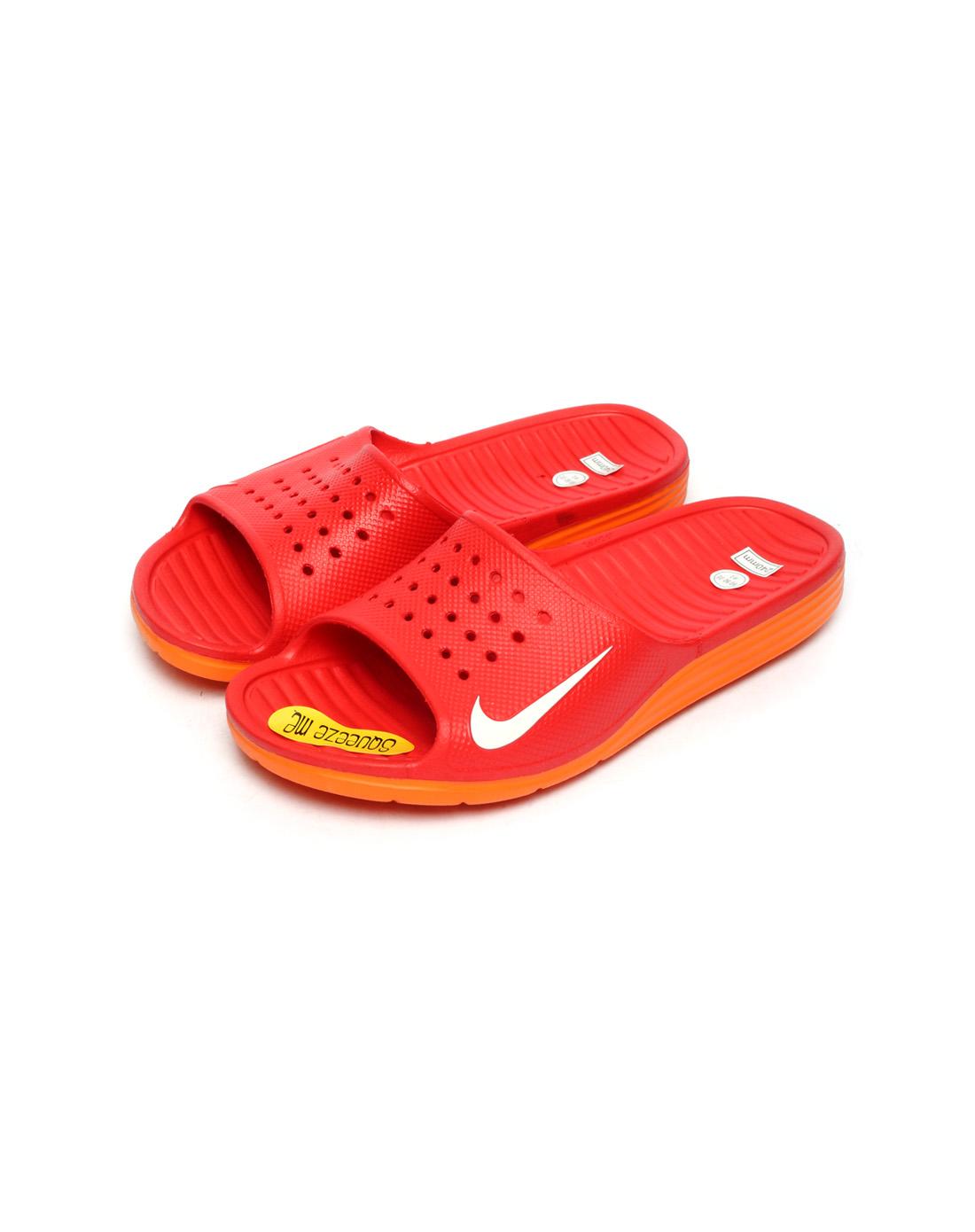 耐克nike-男子红色凉拖鞋386163-603