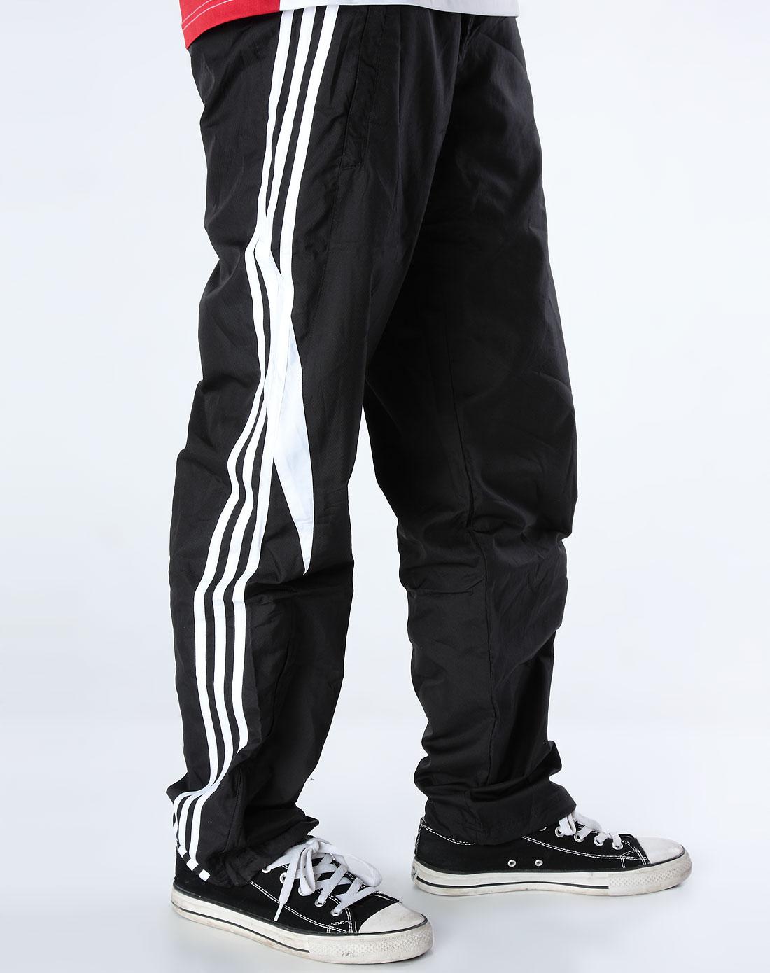阿迪达斯adidas男装专场-男款黑色长裤