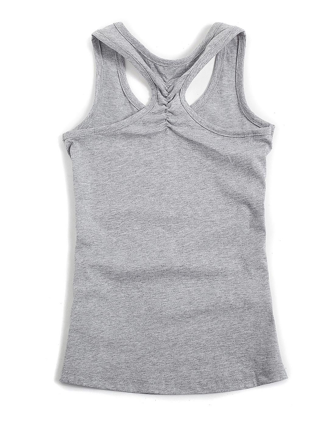 女童花/灰色针织背心
