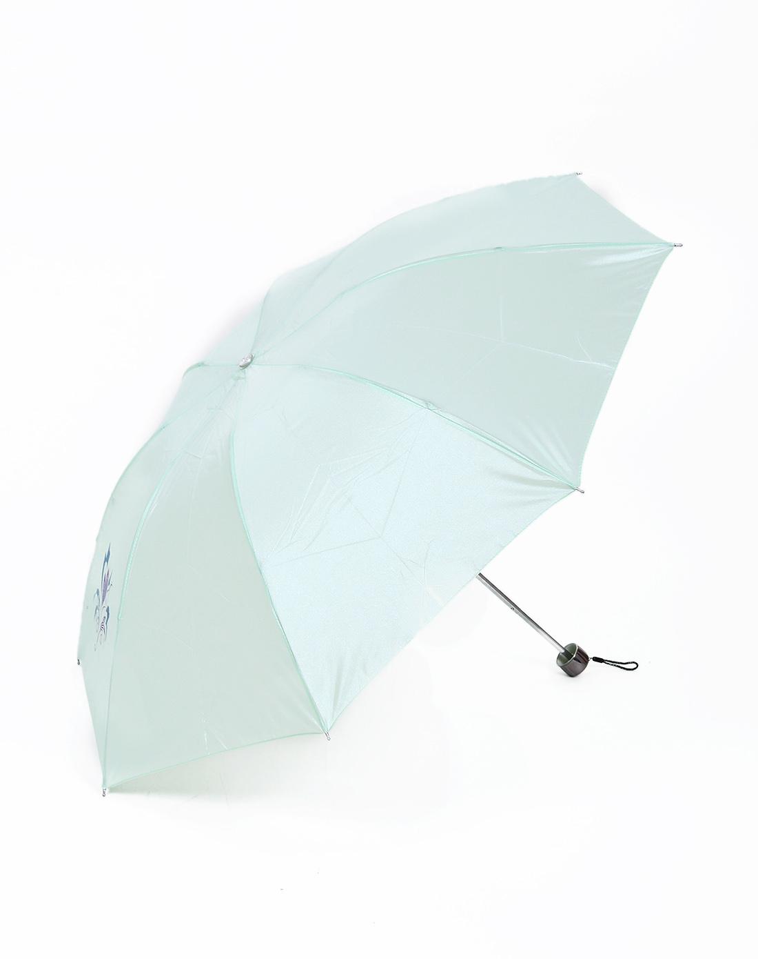 韩国小清新防紫外线雾中花珠光丝印三折晴雨伞
