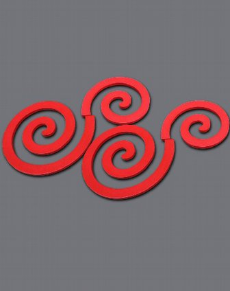 云朵立体木质墙贴四件套(红色)