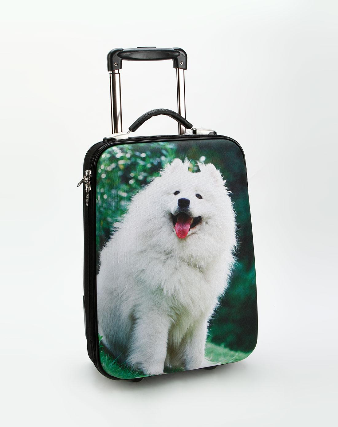 黑/绿色19寸可爱小狗行李箱