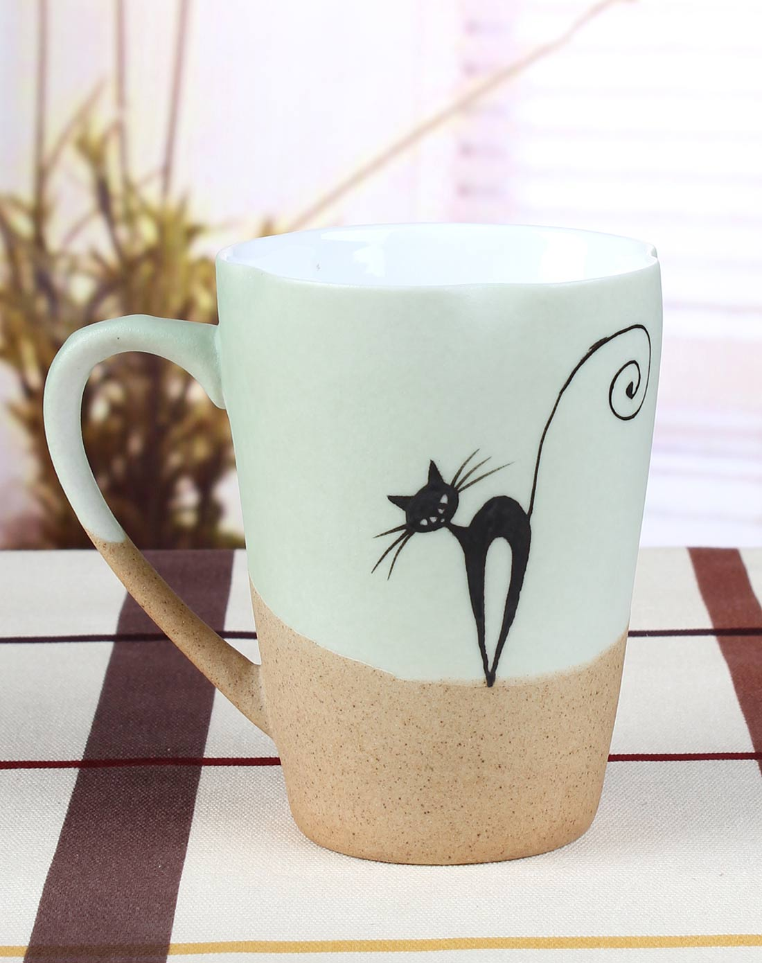 手绘陶瓷杯-可爱猫咪