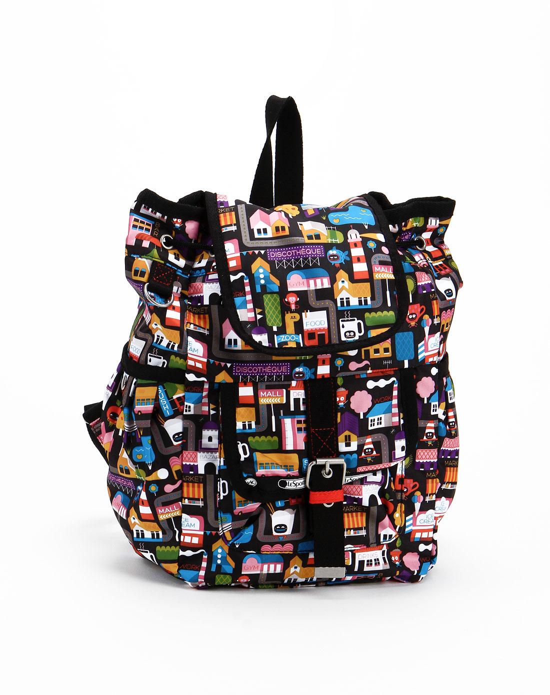 黑色可爱图案背包