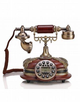一帆风顺古典木电话机图片