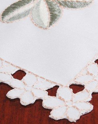 欧式立体刺绣华丽玫瑰餐垫