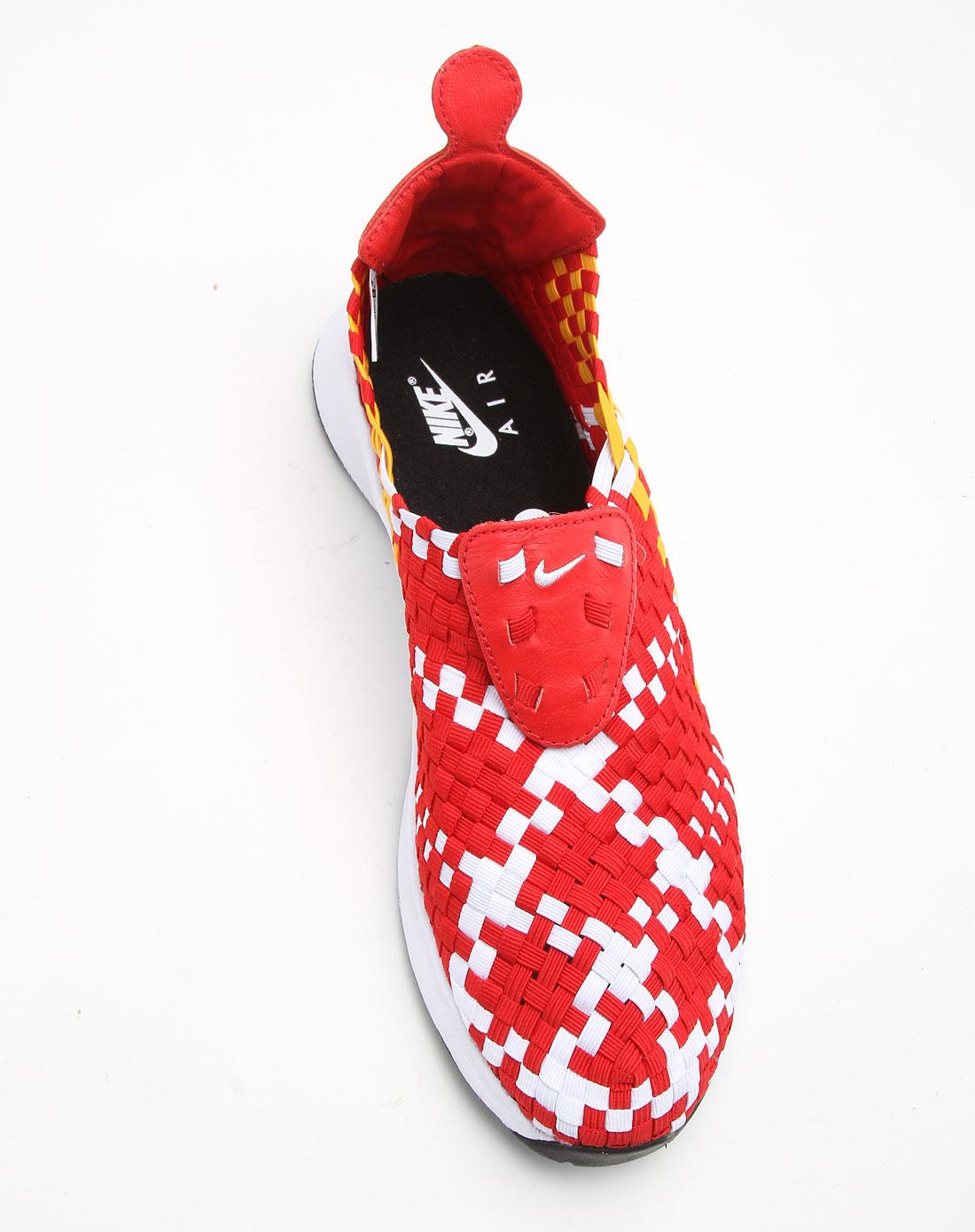 耐克nike男女鞋-经典专场男款红色编织面时尚运动
